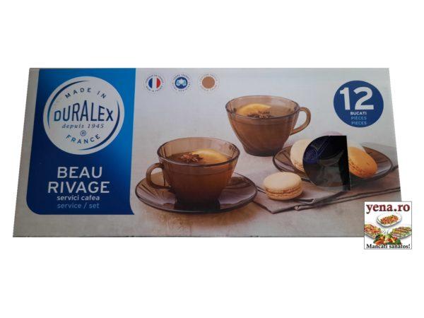 Cesti termorezistente fume Duralex, cafea sau ceai