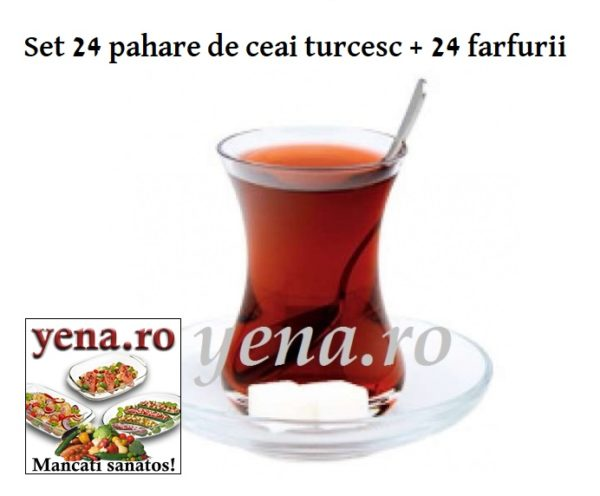Pahare ceai turcesc la yena.ro