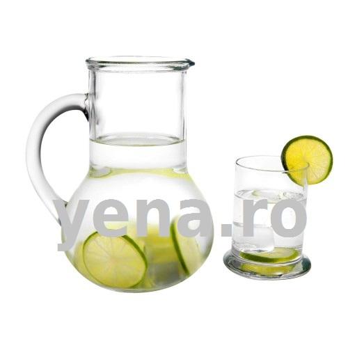 Carafa cu pahar din sticla Oasis la yena.ro