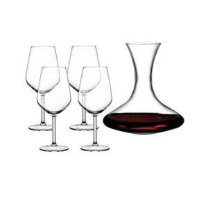Set 4 pahare de vin 490 ml + decantor 1,25 litri - Pasabahce
