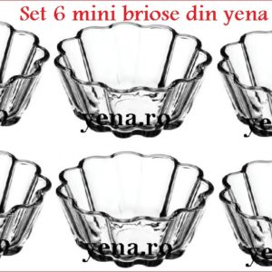 Set 6 mini briose din yena Borcam, cantitate 250 ml